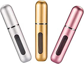 Censung Portable Mini Refillable Perfume Empty Spray Bottle Atomizer Pump Case for Traveling and Outgoing 3 Pcs Pack of 5ml