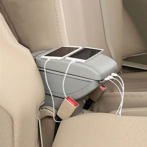 mächtig Auto Armlehne Mittelarmlehne mit 7 USB-Anschlüssen für Polo 2011-2016 Grau