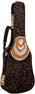 EGGDIOQ Guitar Bag Coffee Cup Gig Bag Dual Adjustable Shoulder Strap & Pocket Acoustic Guitar Case Oxford Guitar Backpack