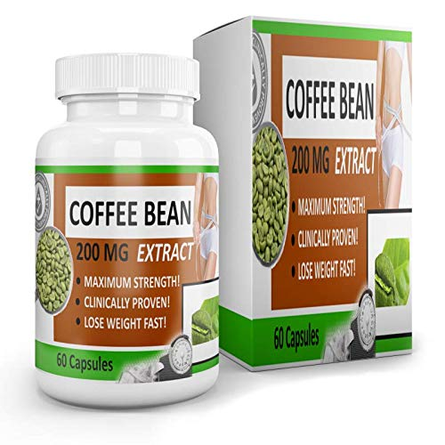 Green Bean Coffee Extract - Best Deal On Amazon! 1 Capsule 4X1 Extract. 200MG = 800MG Per Capsule!