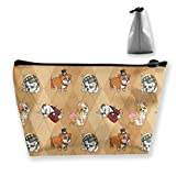 Fancy English Bulldogs Bolsa de Maquillaje Toiletry Storage Cosmetic Bag Organizer Clutch para Mujeres y niñas Oficina de Viajes Escolares