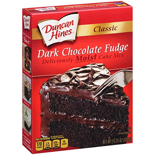 Duncan Hines Classic Cake Mix, Dark Chocolate Fudge, 15.25 Ounce (Pack of 2)