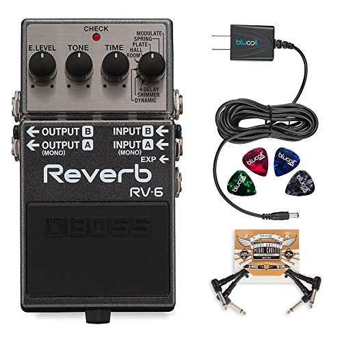 BOSS RV-6 Digital Reverb Pedal Bundle