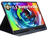 UCMDA 15.6 Pulgadas Monitor porttil HDMI-Full HD 1080LED Pantalla Porttil Monitor, Soporte USB Tipo IPS Screen Gaming Monitor,de Juegos para PS4, Mac,Phone, PS3, Xbox, Raspberry Pi, Laptop (Negro)