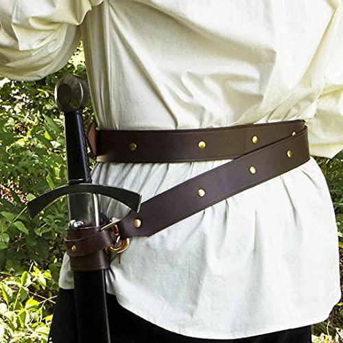 Bnjghcug Mittelalter Leder Wrap Schwert...