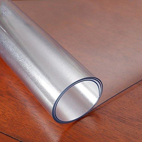 William 337 3MM Frosted PVC-Weiße Glastuch-Wasserdichte und ölBesteändige Kaffee-Tabelle 60  120cm (Größe   Rectangle-90  140CM)