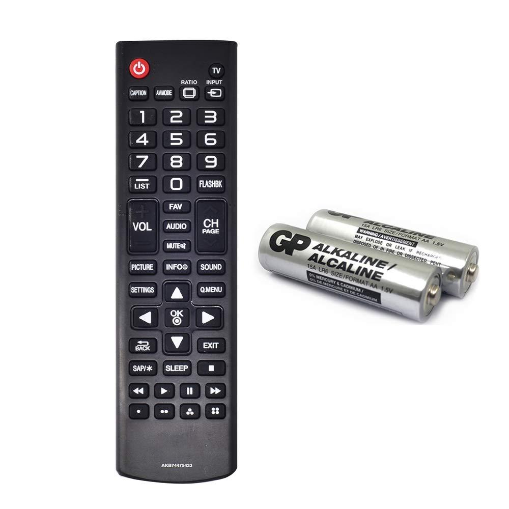 D.Vordingborg AKB74475433 - Mando a Distancia para LG TV 43LX310C 55LF6000 60LX341C 42LX530S 49LX341C 49LX540S 60LX540S 42LF5600 49LX310C 55LB6000 55LX341C 65LX341C con GP alcalina 2 Pilas 2: Amazon.es: Electrónica