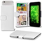Fone-Case (White) Archos 50f Helium Case Clamp Style Wallet