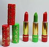 Pack 3 pintalabios originales 2 rojos + 1 verde Aromáticos y duraderos