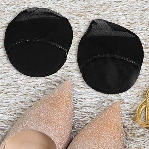 Omabeta Almohadilla para Tacones Altos Cojín Negro/Beige para el antepié Que se USA para Absorber el Sudor, Zapatos de Esponja para Mujer(Black)