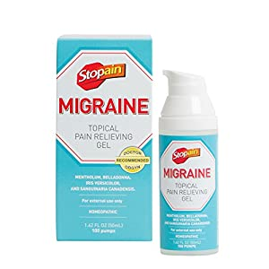 MIGRAINE RELIEF IN MOMENTS: Topical migraine gel from Stopain offers relief more quickly than many migraine medications & is effective at any stage of a migraine. No known side effects or drug interactions PAIN RELIEF GEL: When you are suffering from...