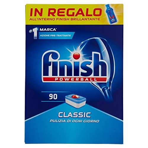 Finish – Classic Geschirrspültabs, Inhalt: 90 Tabs Mega-Pack, Gewicht: 1629 g regulär