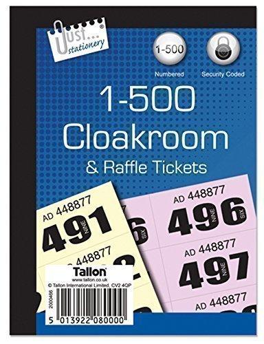 Garderobe/Raffle Tickets - Boek van 500 In Pack Of 50