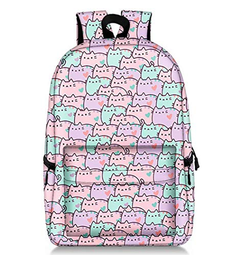 Liti Rugzak voor kinderen voor basisscholen, dagrugzak met eenhoorn-patroon, polyester, schooltassen, 18,5 x 11,02 x 5,5 inch