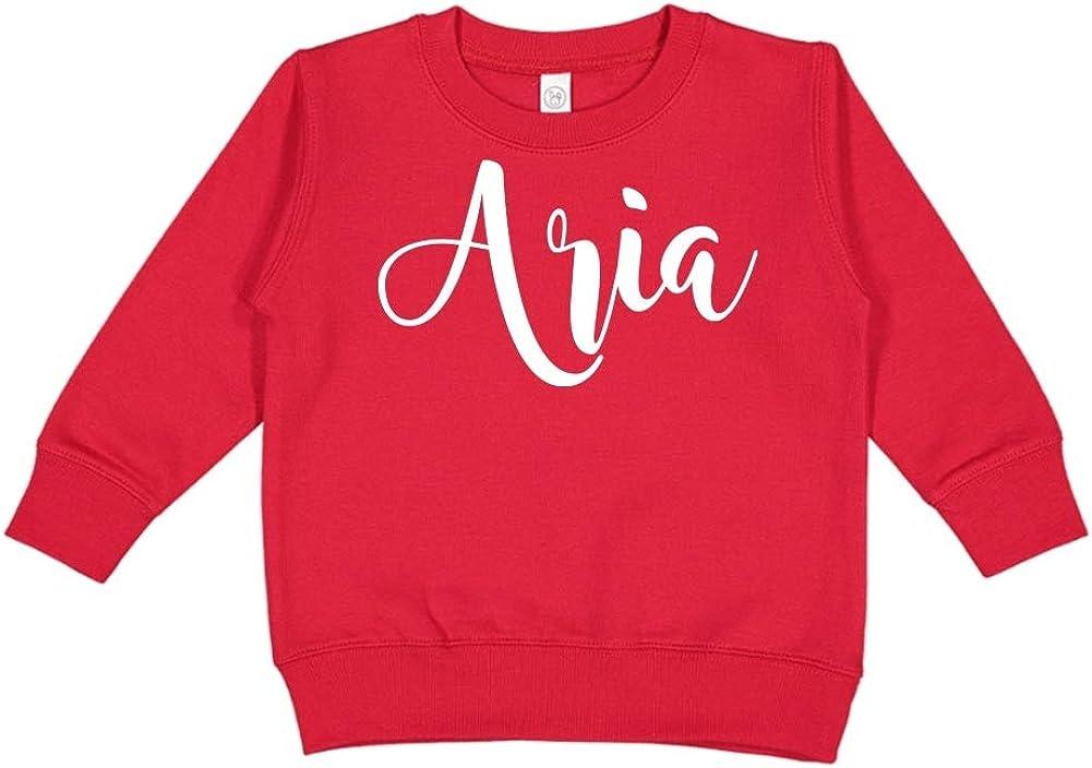 Aria Personalized Name Toddler//Kids Sweatshirt