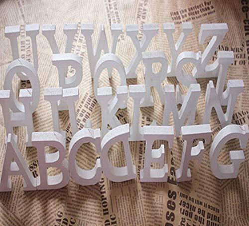 KRS 3XL- 3 Stück Holzbuchstaben 3D Buchstabe Zahlen Zahl Buchstaben Holz weiß Namen 8 cm A-Z (3)