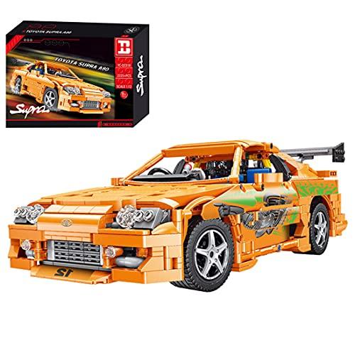SERBVN Modelo de coche de carreras técnico para Toyota Supra A80, Happy Build YC-QC018, 1:12, coche deportivo compatible con Lego Technic, 2225 piezas