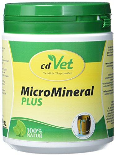 cdVet Naturprodukte MicroMineral plus Hund & Katze 500 g  - extra Zink und Selen - Vitamin, Mineralstoff- und Spurenelementgeber - Magensäurebinder - Schadstoffebinder - Magen-Darm Regulation -