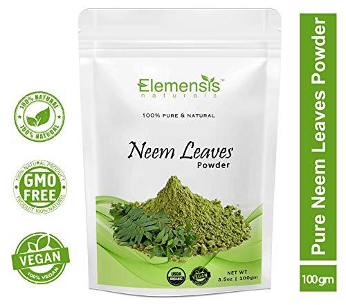 Elemensis Naturals Pure & Natural Pimple-free Clear Skin, silky hair Neem Leaves Powder, 100gm