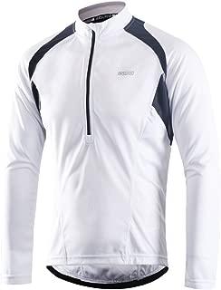 ARSUXEO Men's Half Zipper Cycling Jerseys Long Sleeves MTB Bike Shirts 6031