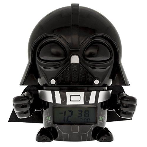 BulbBotz Star Wars 2021364 Darth Vader Kinder-Wecker mit Nachtlicht und typischem Geräusch , schwarz/grau , Kunststoff , 14 cm hoch , LCD-Display , Junge/ Mädchen , offiziell