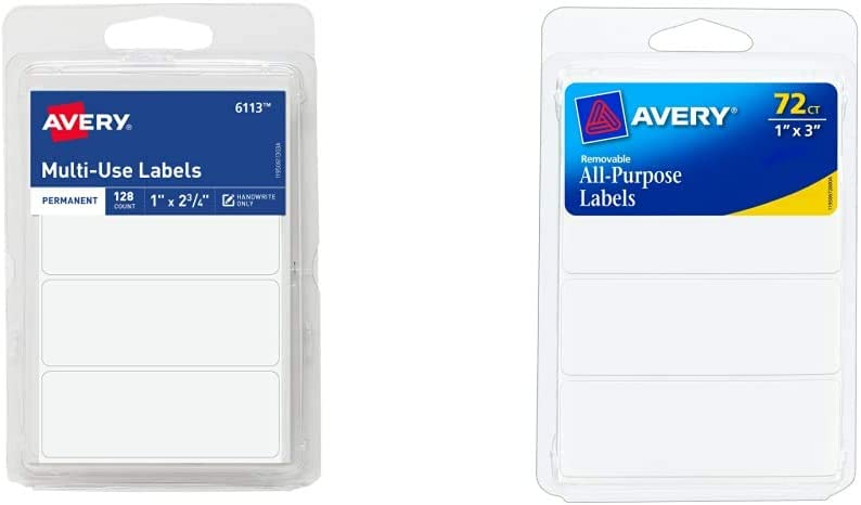Avery 6113 All-Purpose Labels 1 x Pack Albuquerque Mall White 2.75 of Inches Surprise price