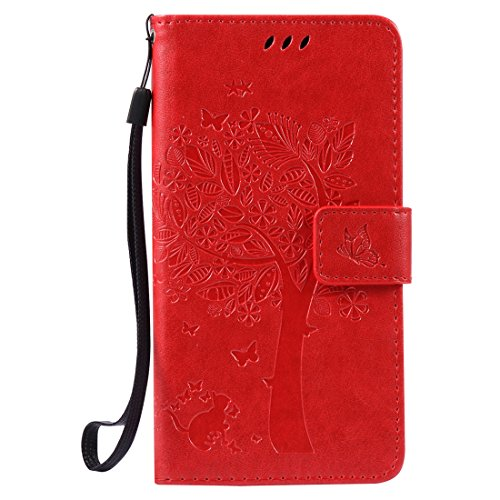 Nancen Compatible with Handyhülle LG X Power (5,3 Zoll) Flip Schutzhülle Zubehör Lederhülle mit Silikon Back Cover PU Leder Handytasche
