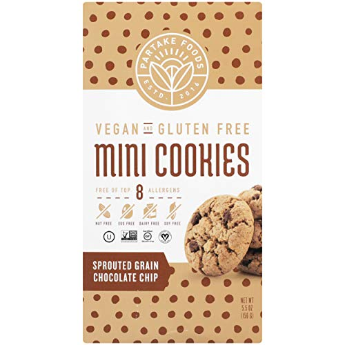 PARTAKE FOODS Chocolate Chip Sprouted Grain Mini Cookies