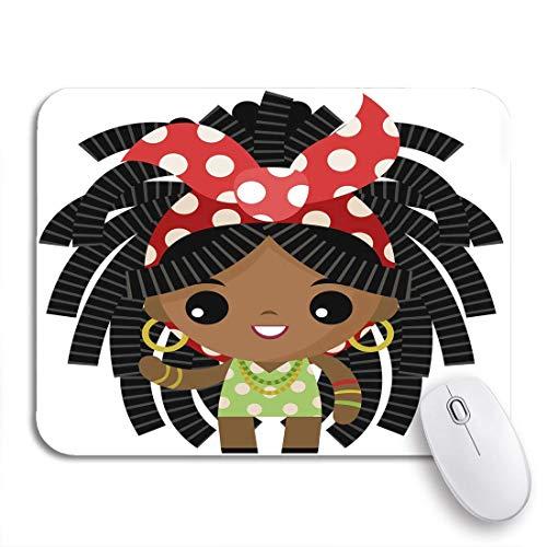 MIGAGA Gaming-Mauspad,Jamaika Jamaikaner Rasta Dreadlocks Winziges süßes Mädchen Afrikanischer Afroamerikaner,Rutschfest Verschleißfestes Und Haltbares Gummi,Mousepad Für Bürocomputer,9.5