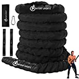 INTENT SPORTS Durable Battle Ropes (1.5 inch Diameter x 40 ft Length)