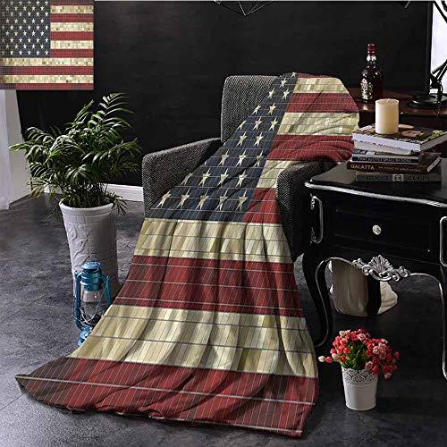 GGACEN Reisdeken Vlag voor Sunset Sky met Horizon Light America Union Idyllic Photo Zachte en comfortabele slaapbank