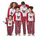 Homebaby Famiglia Pigiama Natale Donna Uomo Neonato Bambino Bambini Manica Lunga Tops + Pantaloni Set Pigiami Famiglia Coordinati Matching Abbigliamento Regalo di Natale