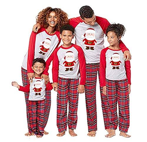 ragazzi Natale pigiama per bambini Colore: rosso 6 anni Pajamas ragazze Hycles pigiama di Natale 3-8 anni pigiama natalizio per bambini Natale Pjx