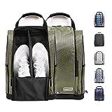 Champkey Women s Golf Shoe Bag - Zippered Shoe Carrier Bags with Outside Pocket for Socks, Tees,Divot,Mark etc. (Green,Men Size)