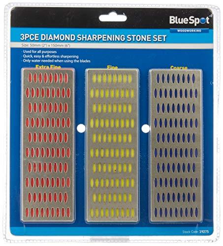 Blue Spot 19275 - Juego de piedras de afilado (3 piezas)