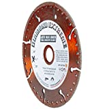 Diamond Extreme 4 1/2-Inch All Purpose Heavy Duty Metal Cutting Diamond Blade for Rebar, Ductile Pipe, Angle Iron, Steel Plating and Similar Materials, for use with Hand-Held Angle Grinders (4.5' X .100 X 7/8'-5/8')