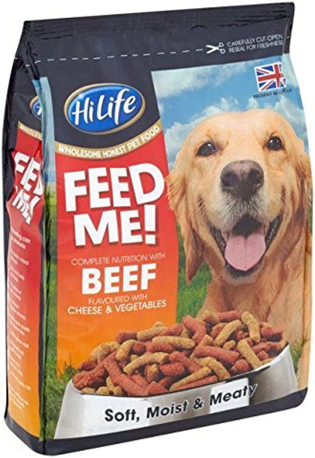 HiLife Feed Me  Beef & Cheese Dry Dog Food 1.5kg (PACK OF 4)