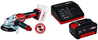 Einhell 4431142 Axxio Cordless Angle Grinder with Einhell Starter Kit Battery, 260 V, red, Black, 3,0 Ah Akku and Einhell ...