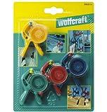 Wolfcraft 3663000 - 4 pinzas de bricolaje microfix con ventosa 20 mm