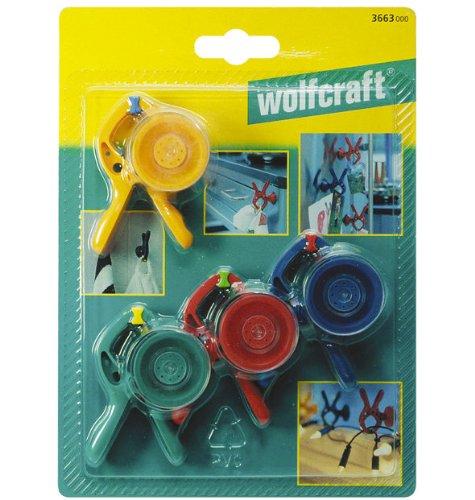 Wolfcraft 3663000 Federzwingen Microfix S mit Saugnapf