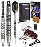 IgnatGames Steel Tip Darts Set - Professional Tungsten Darts with Stylish Wallet, Aluminum and Polycarbonate Shafts with Rubber O'Rings + Standard and Slim Flights + Darts Sharpener + Darts Wrench
