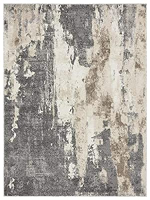 Luxe Weavers Euston Gray 9 x 12 Abstract Modern Area Rug 7681