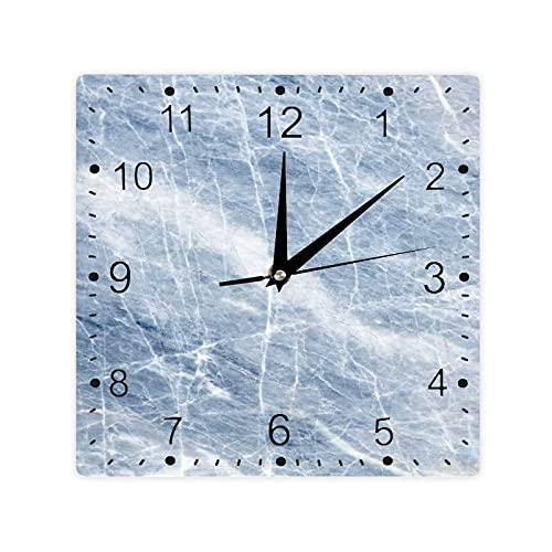 Patrón de piedra de sombra pálida grietas en su superficie geografía disposición temática color cuadrado reloj Slient