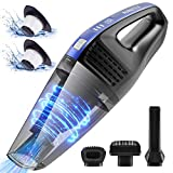 Handheld Vacuum, AVANTEK Cordless Hand Vacuum Cleaner with Replaceable Battery, 7KPa Powerful Cyclonic Suction for Home Car Cleaning, Quick Charging Tech, Wet Dry Use and Lightweight