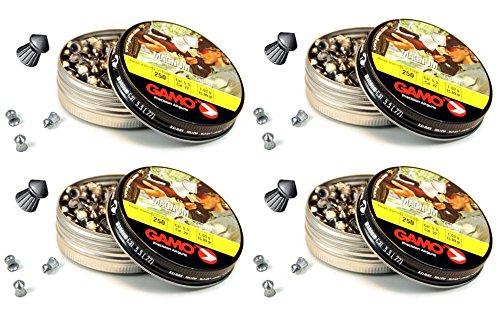 Outletdelocio. 4 latas de 250 perdigones Gamo Magnum de Copa-Punta 5,5mm. Modelo 320225