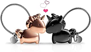 Wandi Couple Keychain, Magnetic Destined Kissing Unicorn Keychain Valentine's Love/Christmas Present