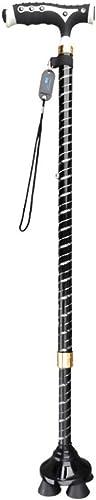 Canne de Marche Plus agée, Aide au Support de baton de Marche réglable avec la lumière de LED, poignée de Massage, Base tournante