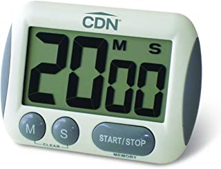 CDN TM15 Kitchen Timer, Extra Large Big Digits, Loud Alarm, Magnetic Backing, Stand- White - 02626