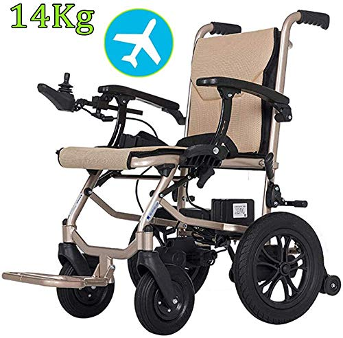 GJHW Elektro-Rollstuhl Klapprollstuhl Elektrisch Leicht Zusammenklappbar Vollautomatischer Elektrischer Rollstuhl Faltbar - Elektrorollstuhl für Die Wohnung, ältere Und Behinderte Menschen,dualcontrol