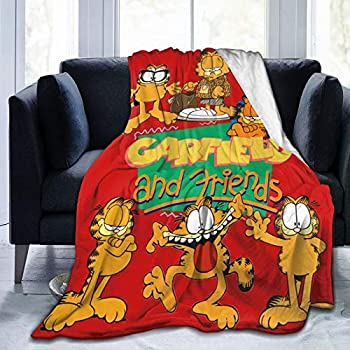 Lsoua Lightweight Blanket with Garfield Pattern Throw for The Bed Quilt Ultra-Soft Micro Fleece Blankets for Kids Adults Durable Comfortable King Size Super Soft Warm Blanket